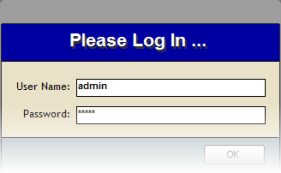 Access login screen